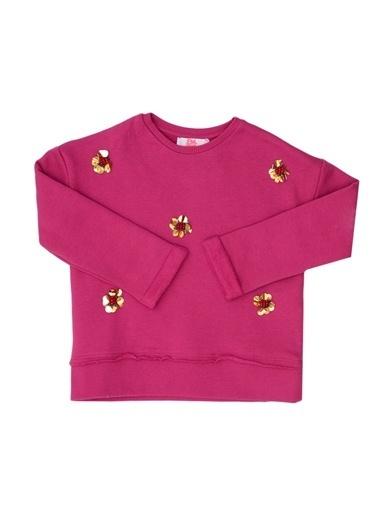 Pink&Orange Sweatshirt Fuşya